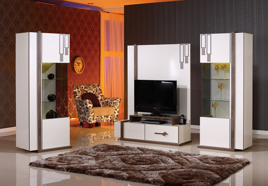 meuble tv living dekora. Black Bedroom Furniture Sets. Home Design Ideas