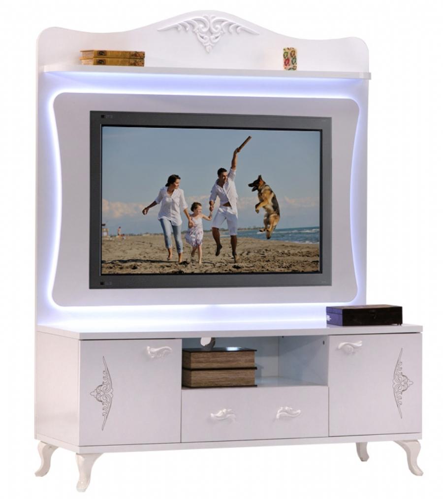 Finest meuble tv with tv encastrable cuisine for Televiseur miroir encastrable