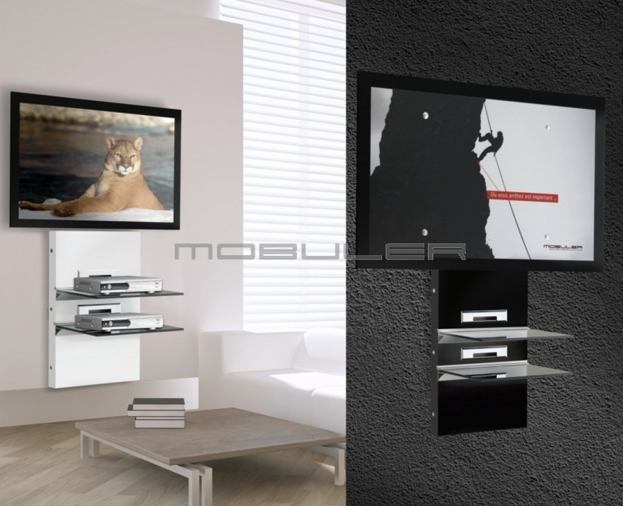 Meuble tv living meuble for Meuble mural hifi